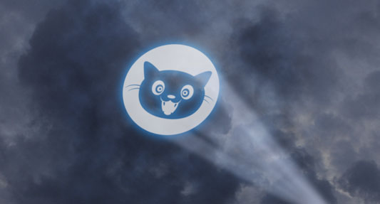 Cat signal in the sky